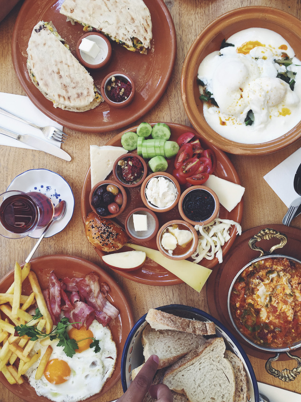 turkey traditional turkish breakfast spread kahve6 restaurant