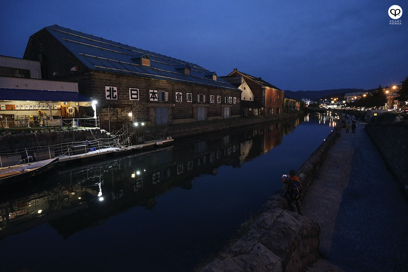 heartpatrick travel photography photojournalism hokkaido japan street otaru canal evening blue hour