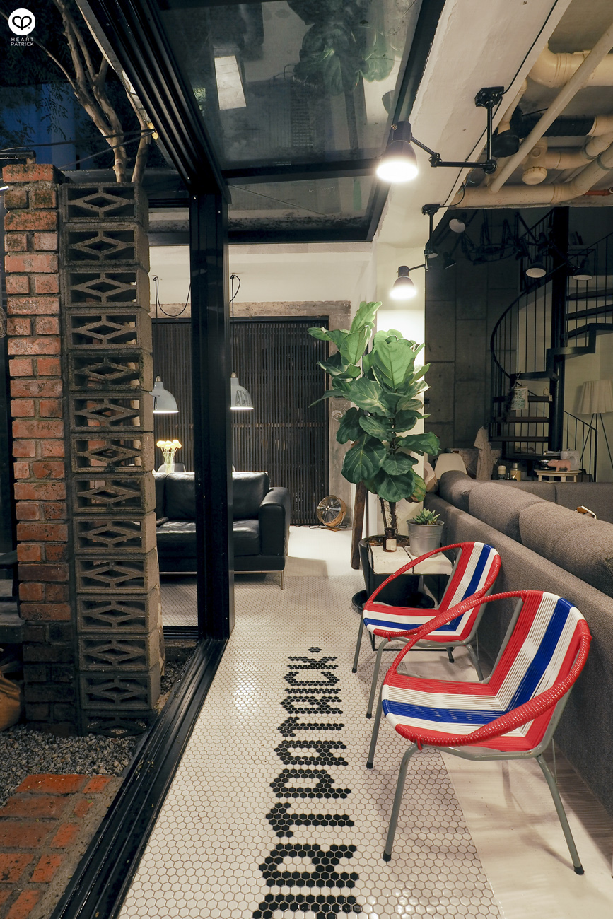 heartpatrick spaces industrial vintage interior design courtyard garden centrio pantai hillpark stringchair