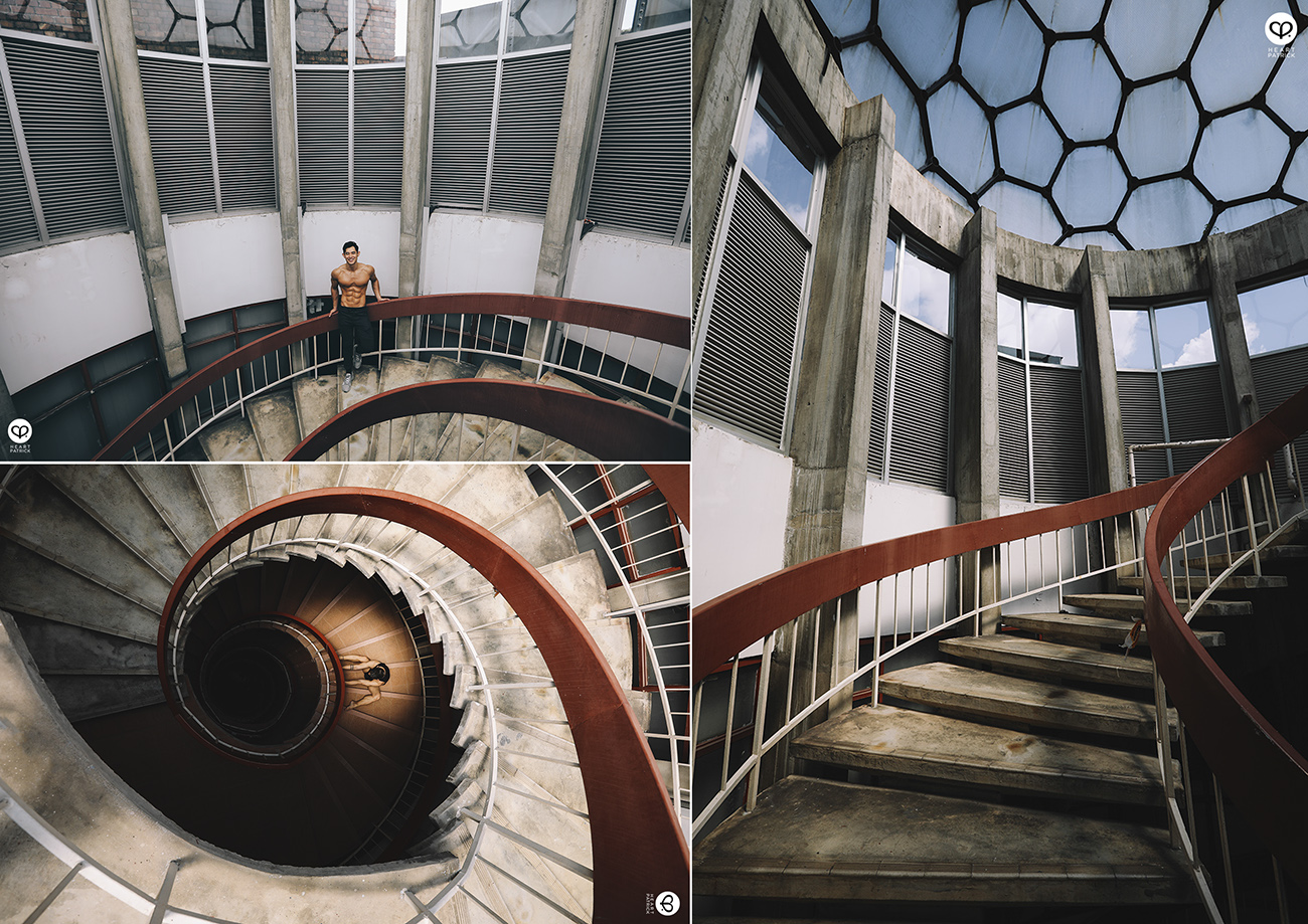 heartpatrick university malaysia faculty economics spiral staircase