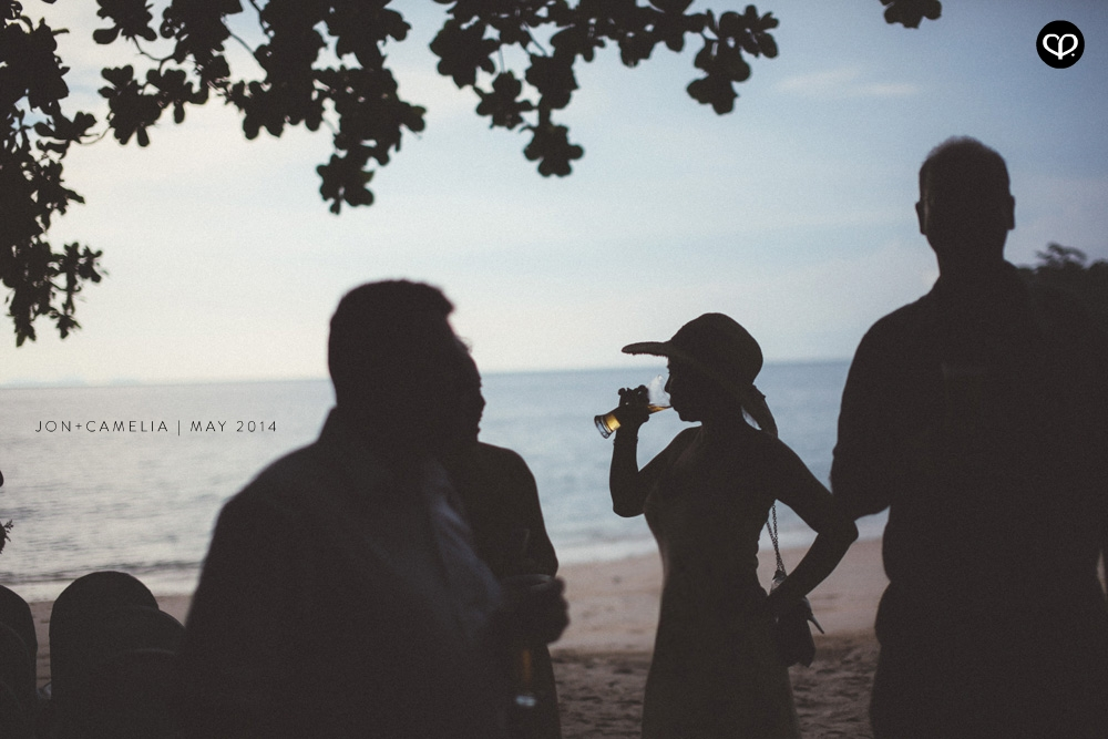 actual-day beach wedding and dinner reception at the Andaman Langkawi Malaysia