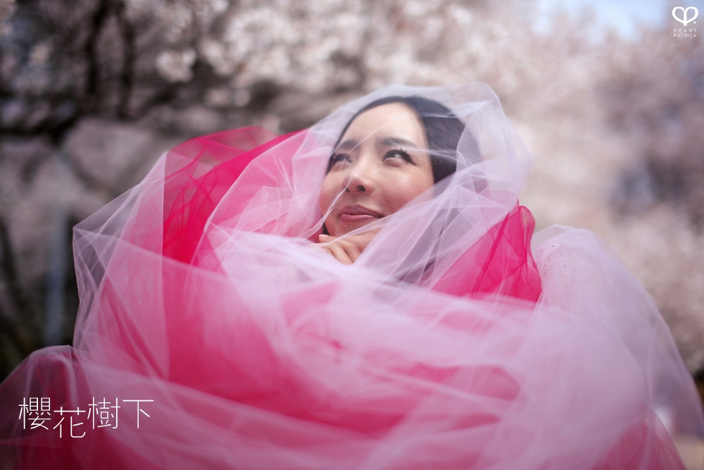 heartpatrick wedding prewedding destination sakura japan cherry blossom